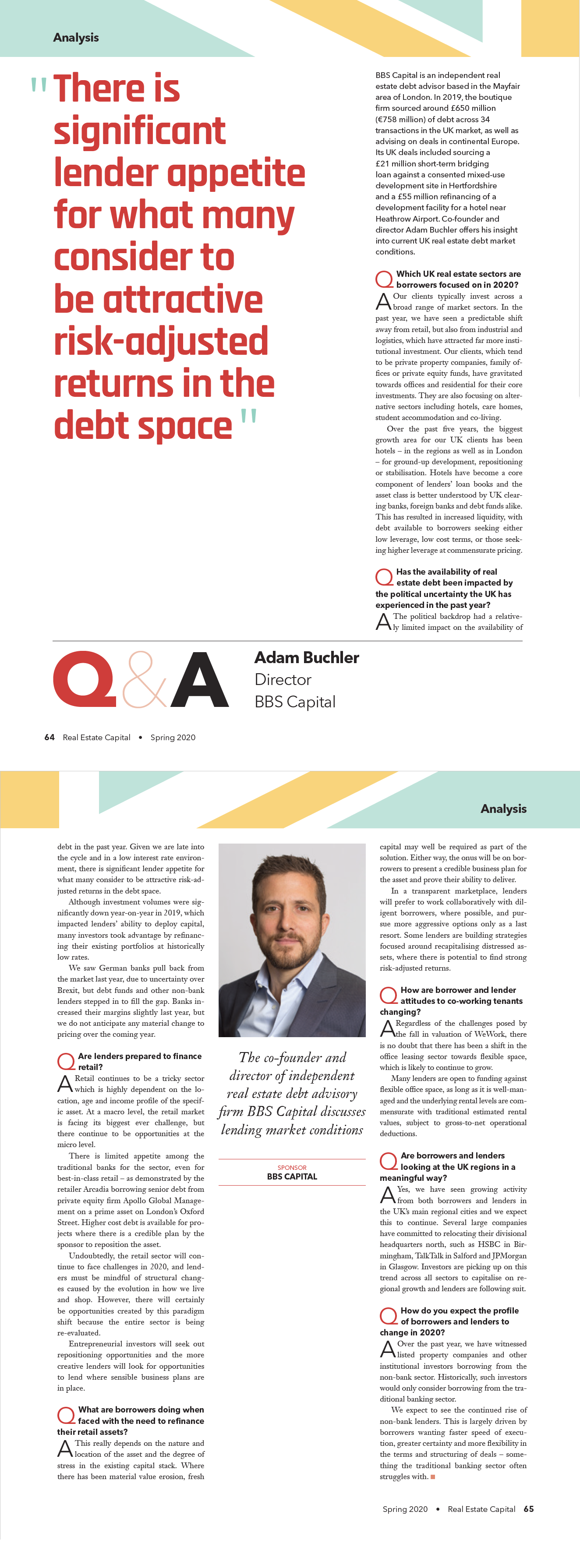 Real Estate Capital Q&A with Adam Buchler
